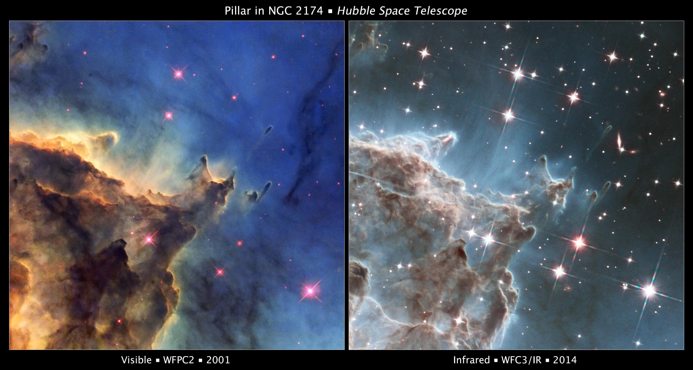 NGC 2174 Hubble Comparison