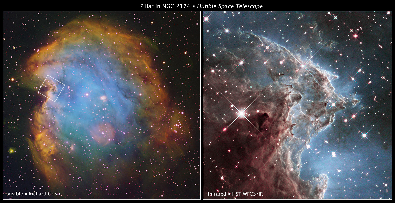 NGC 2174 Hubble Comparison Wider View