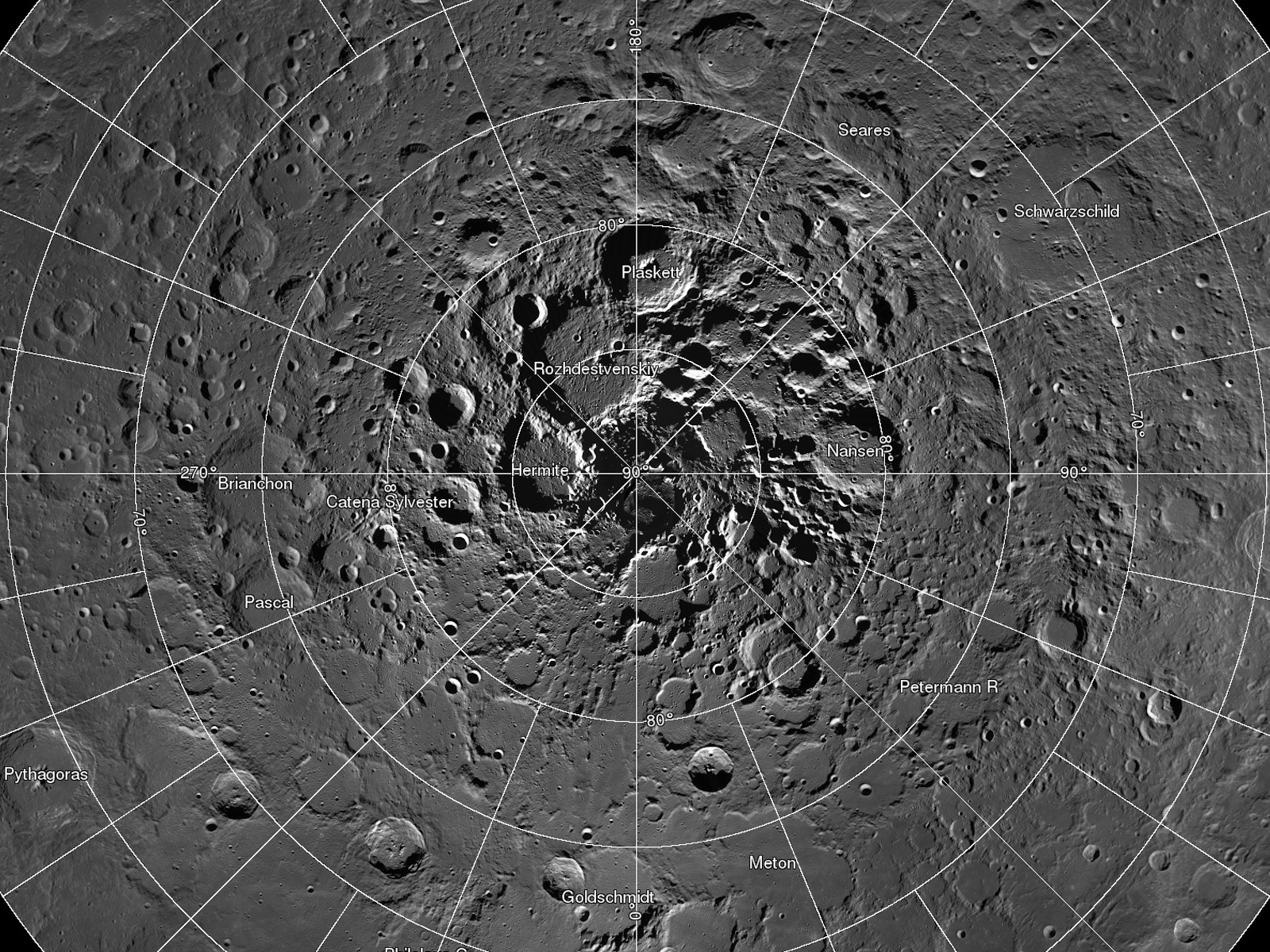 Brilliant Moon Mosaic | Space Wallpaper