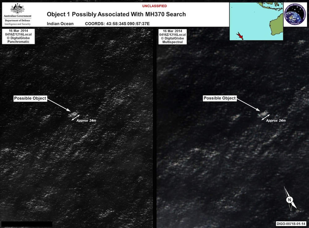Satellite Images Show Possible Debris from Malaysia Flight 370 (Photos)