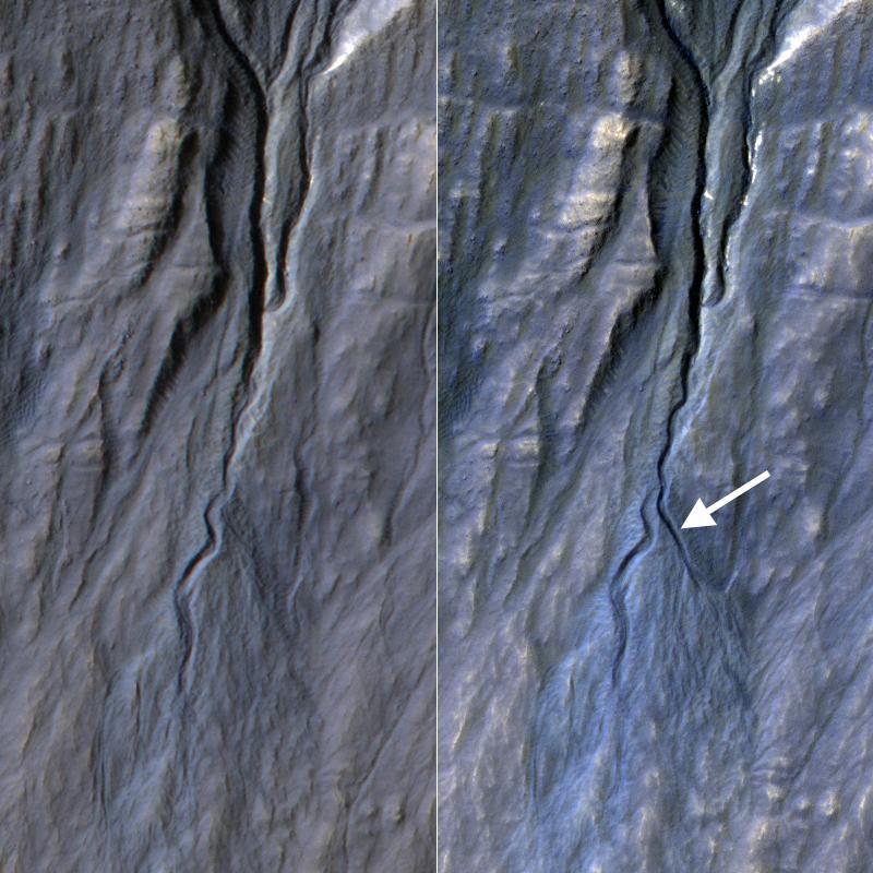 A New Gully Channel in Terra Sirenum, Mars