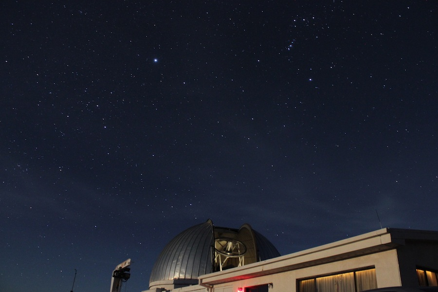 Orion and Sirius Over Hiltner Telescope