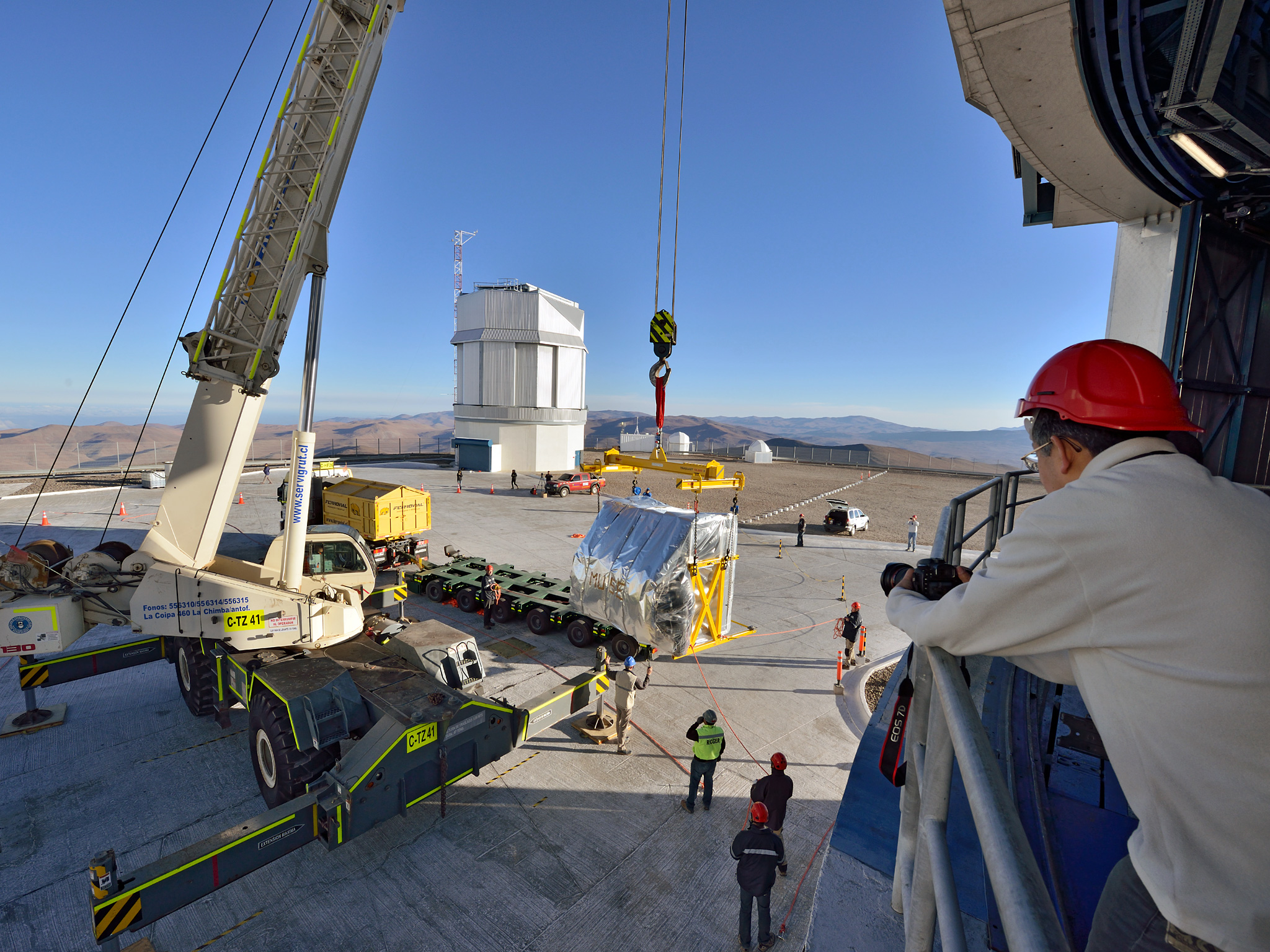 MUSE During Installation at Paranal Observatory