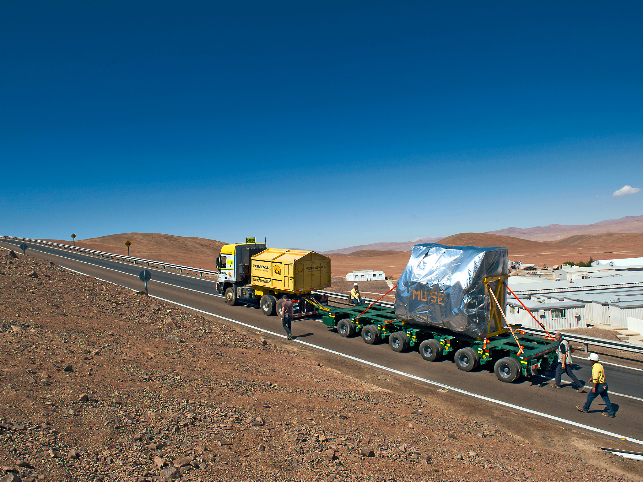 MUSE Makes Final Ascent to Very Large Telescope