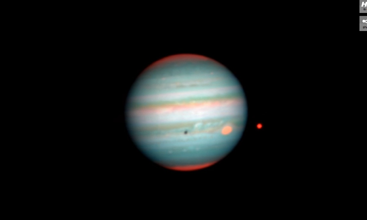 Transit of Europa Across Disc of Jupiter MUSE Video Still