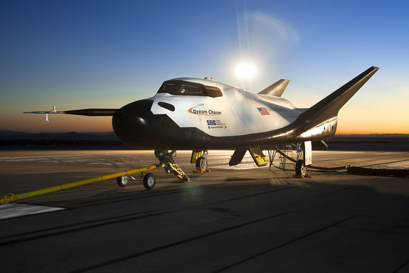 The Dream Chaser engineering test article built by Sierra Nevada Corp.