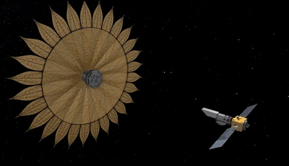 A sunflower-shaped 'starshade' launched to space with a simple telescope could help scientists on the ground hunt for another Earth.