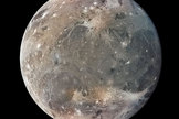 Ganymede, a moon of Jupiter and the largest in the Solar System