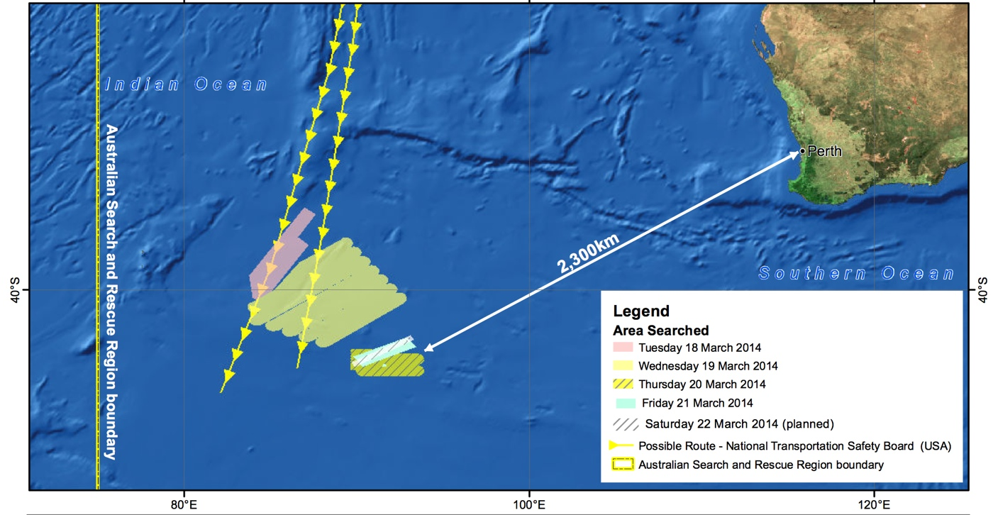 French Satellite Spots Objects in Search for Malaysian Flight 370