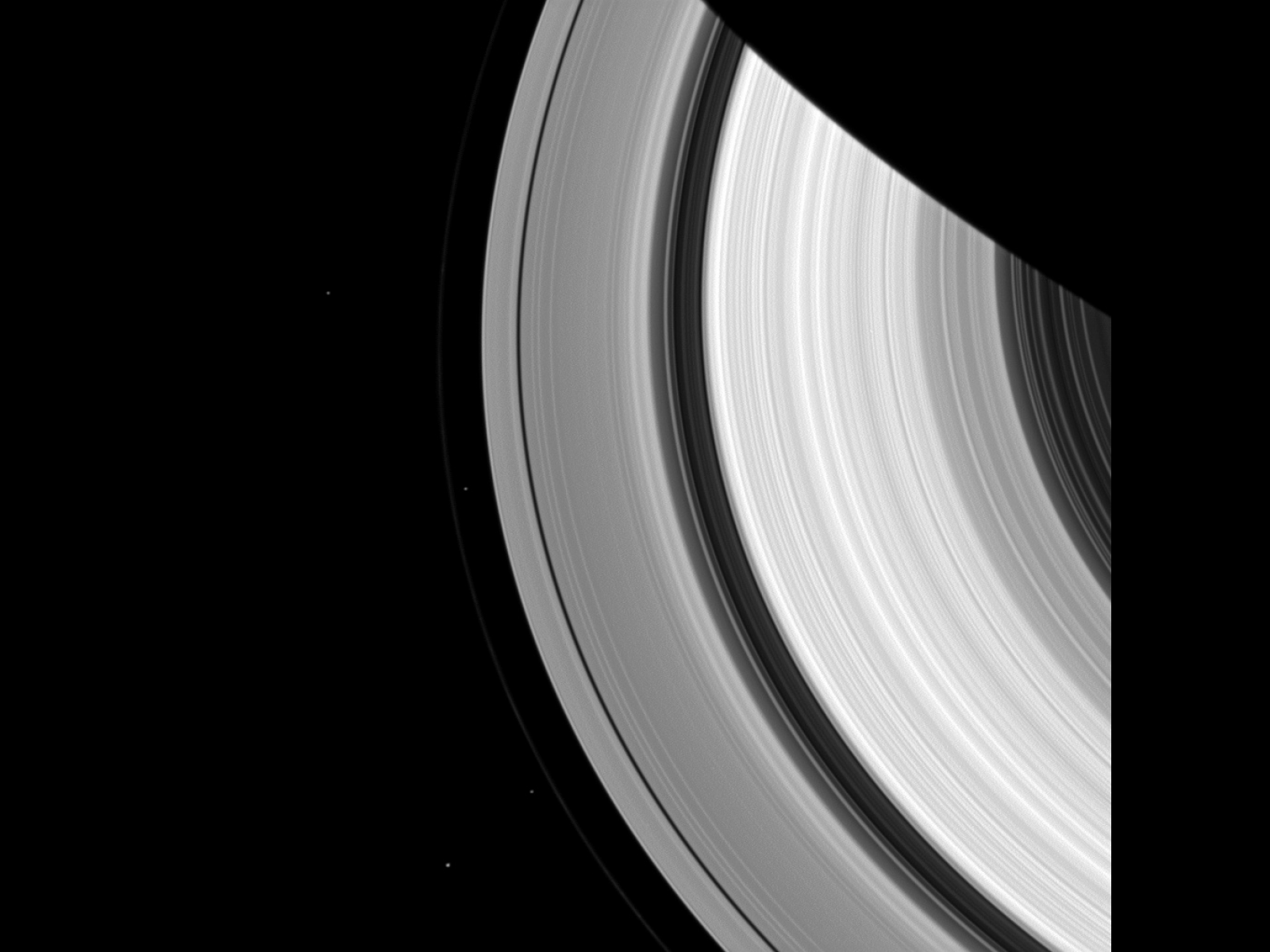 Cassini Captures Saturn's Moons