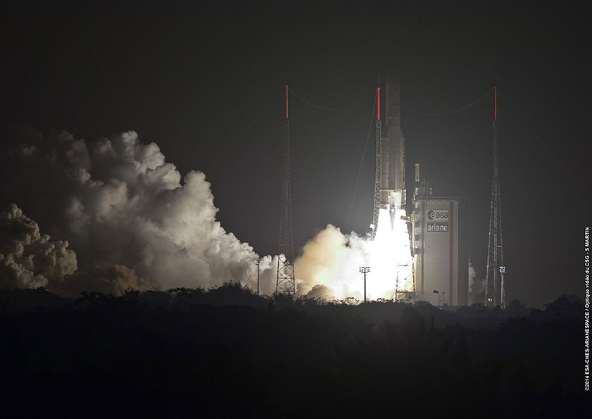 Ariane 5 Rocket Launches 2 Communications Satellites Into Orbit