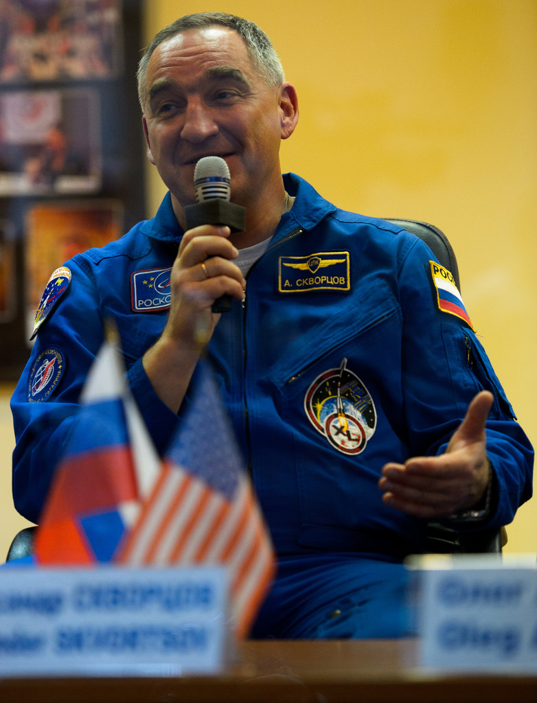 Expedition 39 Soyuz Commander Aleksandr Skvortsov