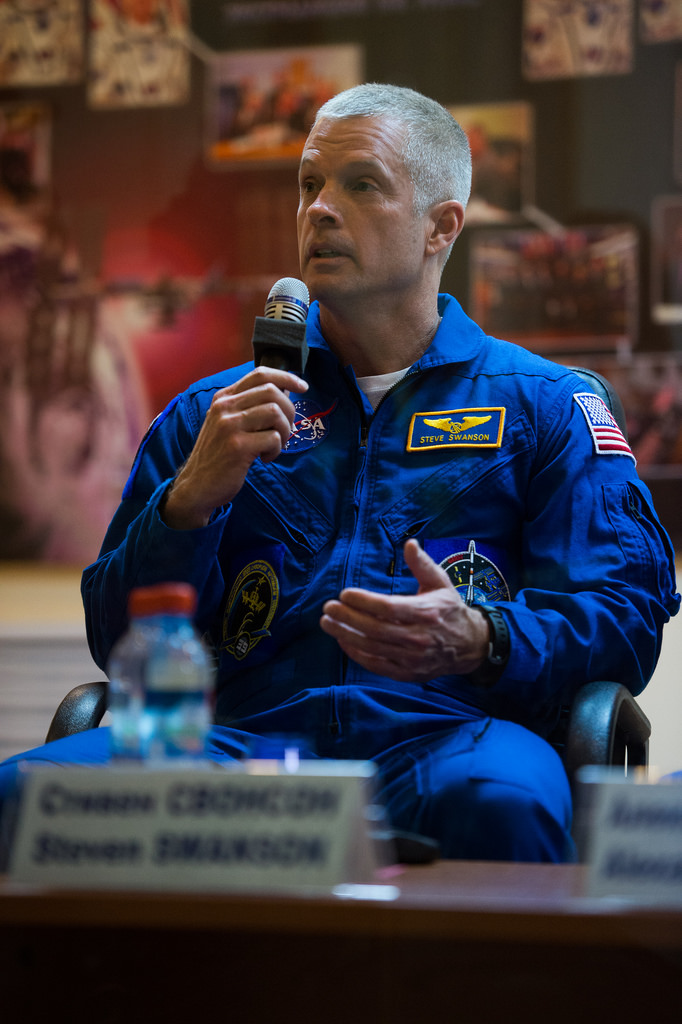 Astronaut Swanson at Expedition 39 Press Conference