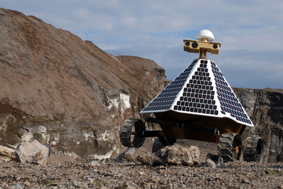 Field test of the Astrobotic Red Rover in a quarry.