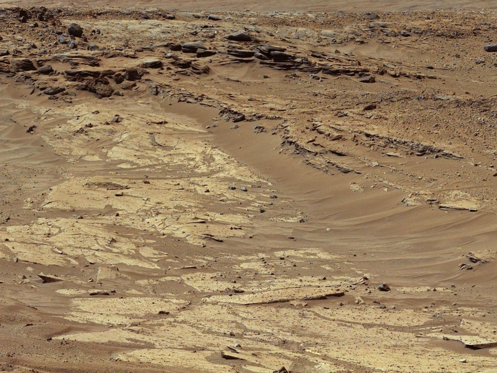Layers of Sandstone | Space Wallpaper