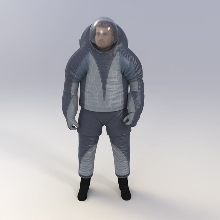 'Biomimicry' Spacesuit Front View