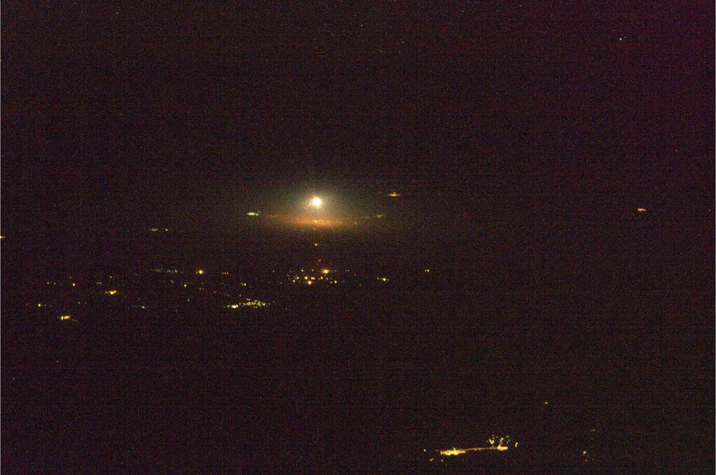 Expedition 39 Soyuz Launch Seen from ISS