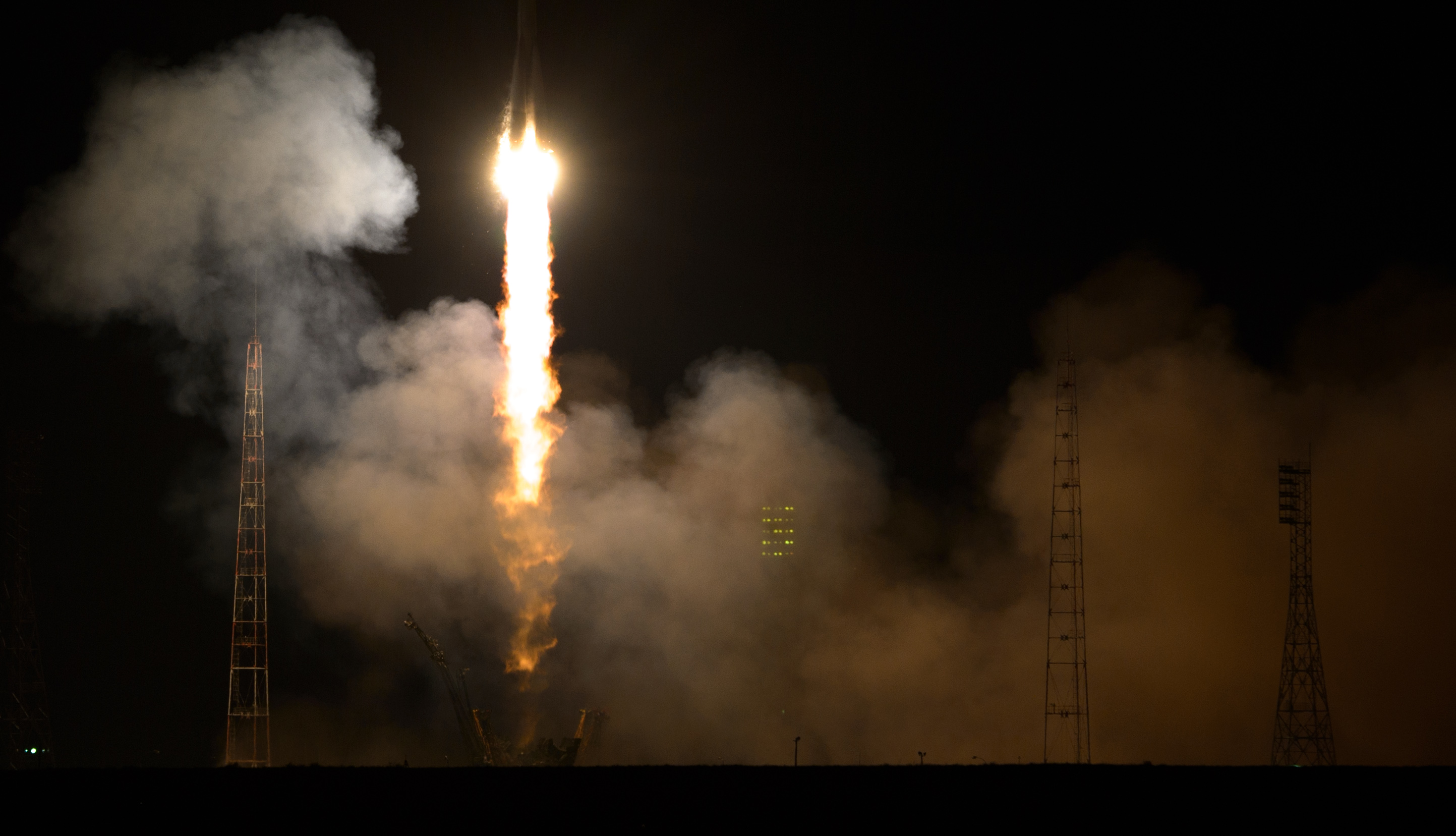 Soyuz Rocket Lifts Off
