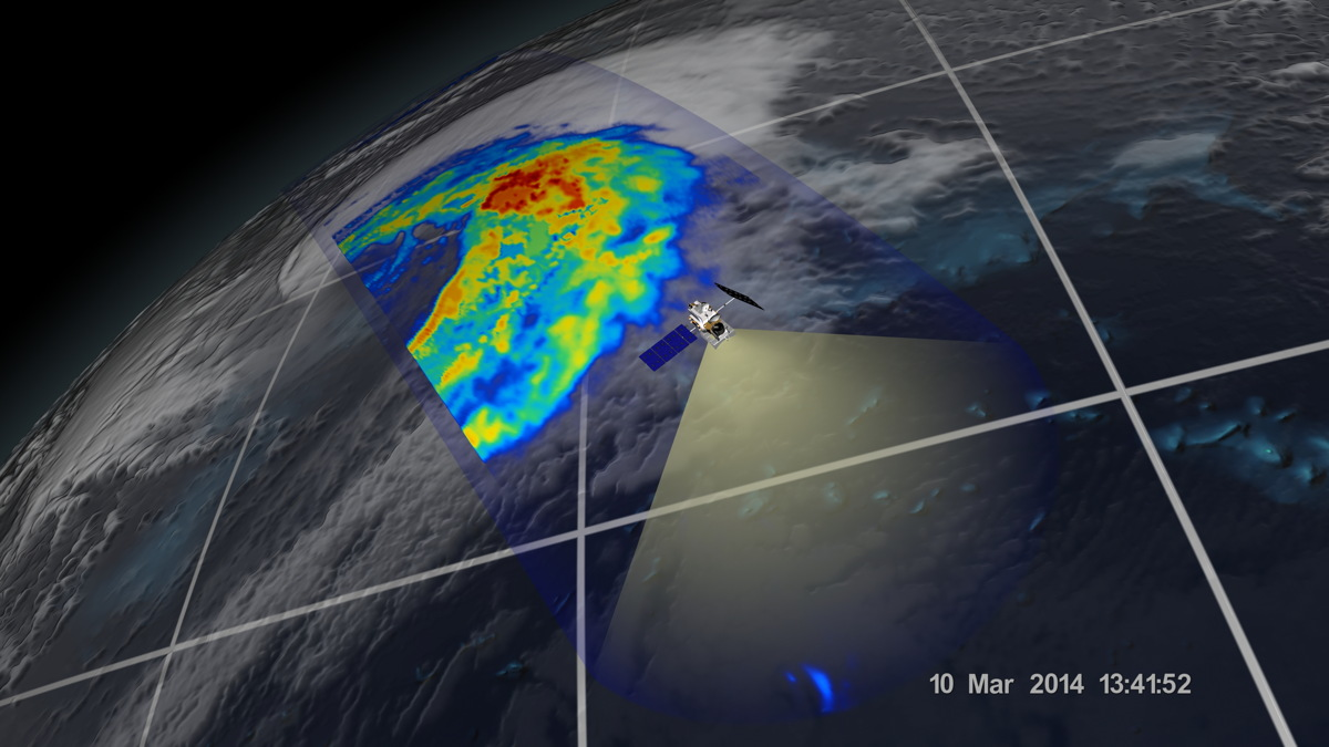 Extra-Tropical Cyclone Off the Coast of Japan, March 10, 2014