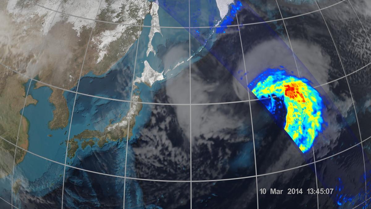 Extra-Tropical Cyclone East of Japan's Honshu Island
