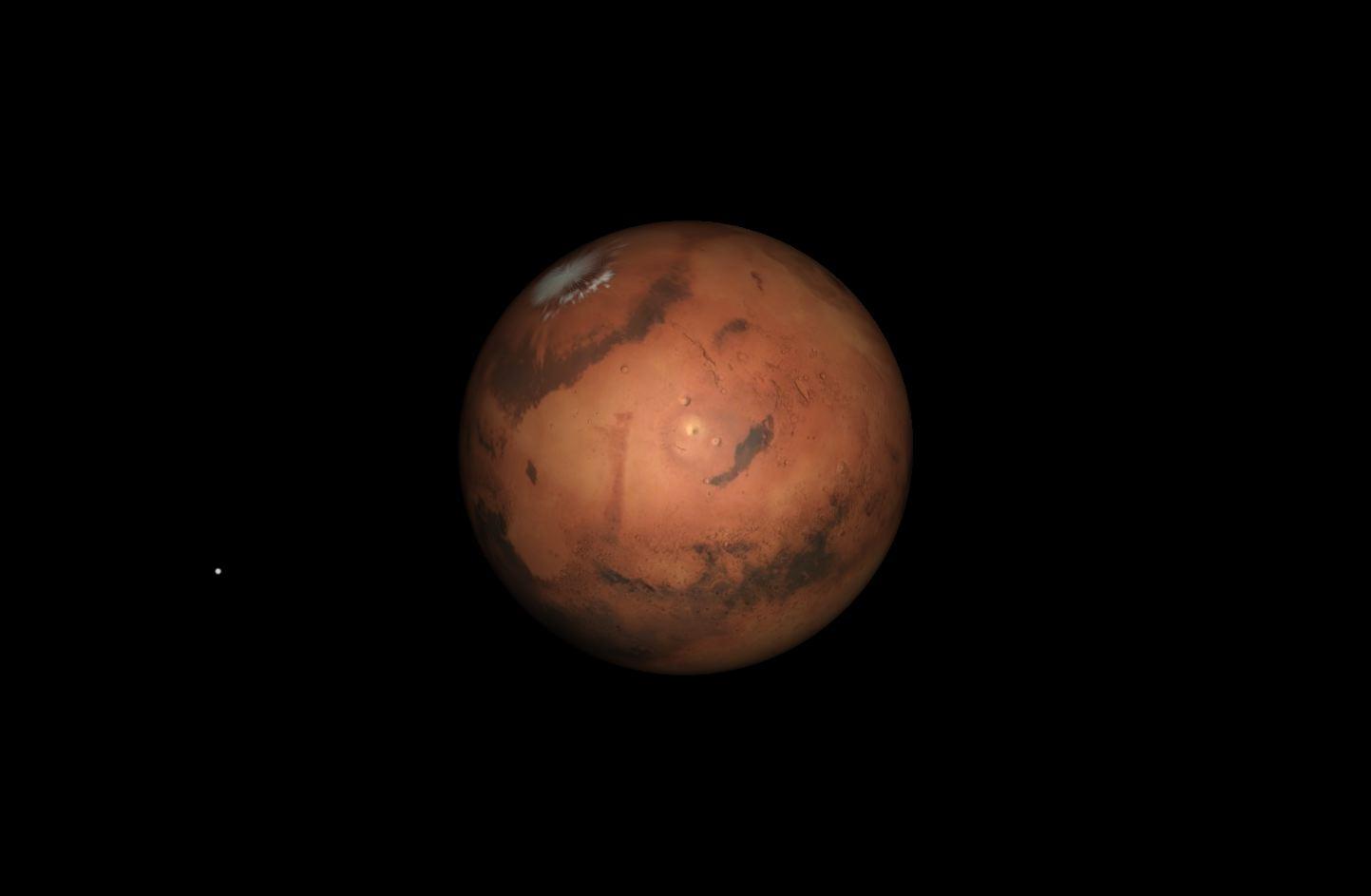 Mars Closest Approach, April 2014