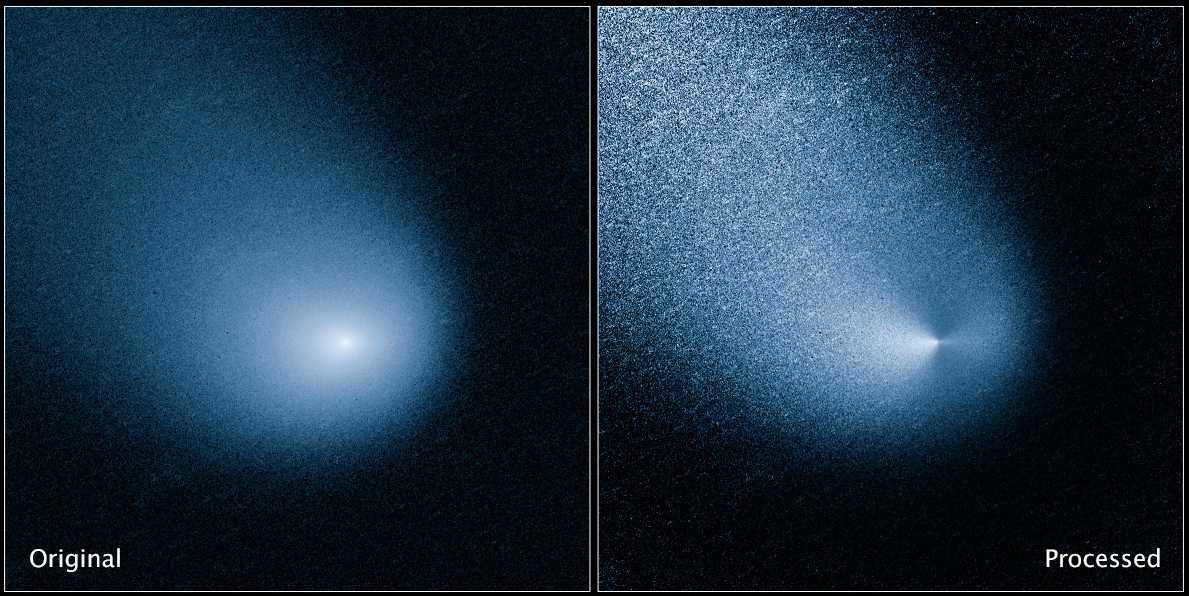 Mars-Bound Comet Sprouts Twin Jets in Hubble Telescope Photos