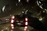 "A Klingon starship in concept art for the fan film ""Star Trek: Prelude to Axanar."""