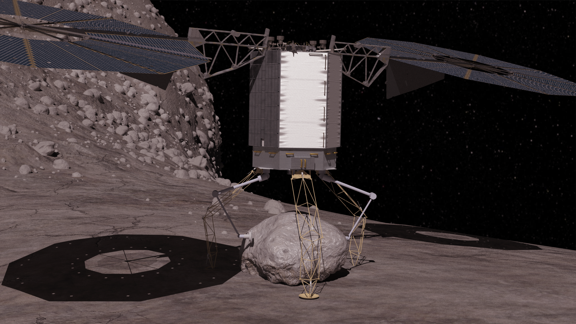 Asteroid Redirect Robotic Vehicle Concept Descends