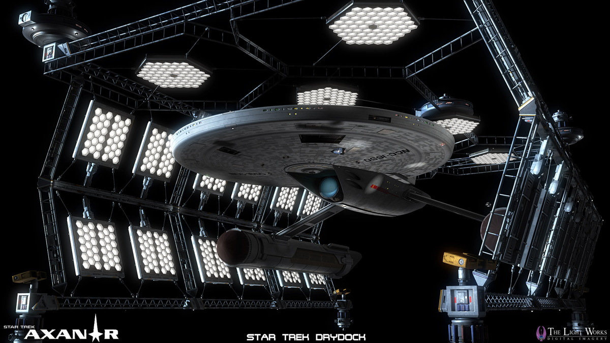 Federation Starship Drydock Art for 'Star Trek: Prelude to Axanar'