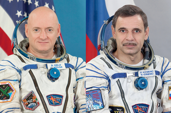 NASA astronaut Scott Kelly and Roscsomos cosmonaut Mikhail Kornienko will work for a year on the space station.