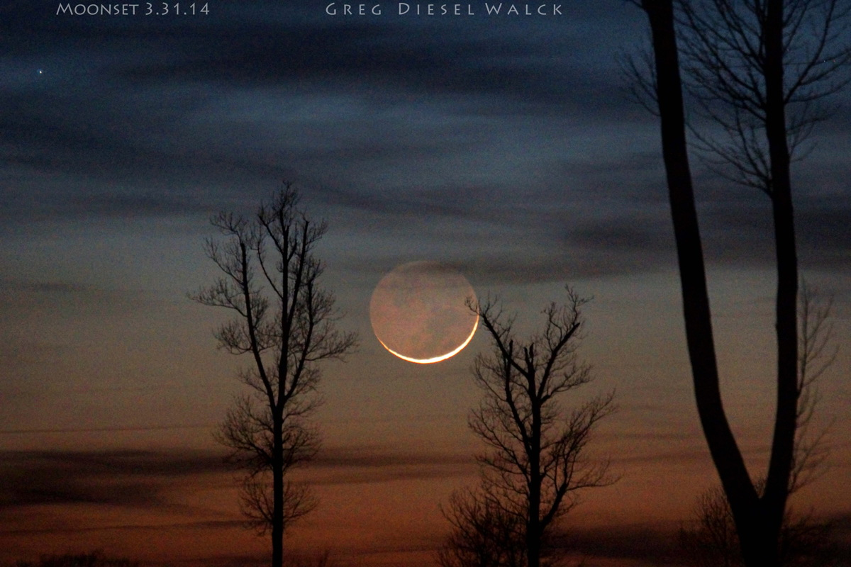 New Moon After Sunset