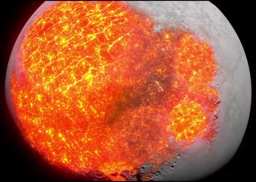 Earth's volcanic moon