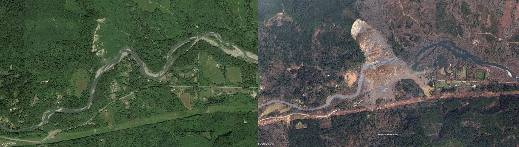 Washington Mudslide Devastation Seen from Space (Before and After Photos)