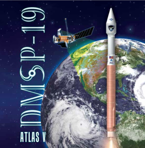 DMSP-19 Satellite Mission Artwork