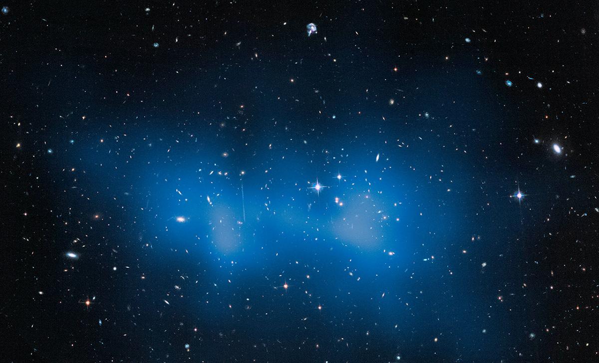 Galaxy Cluster 'El Gordo' with Mass Map