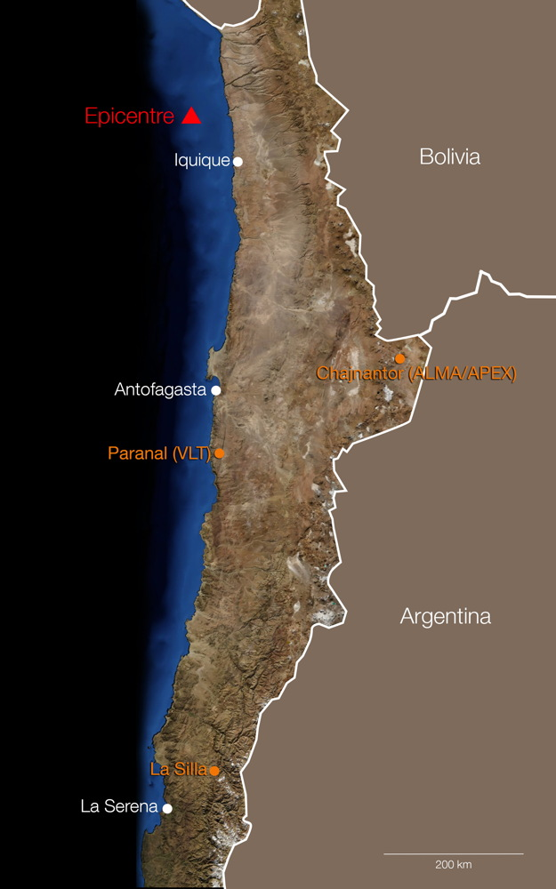 Powerful Chile Earthquake Leaves Astronomy Observatories Unscathed