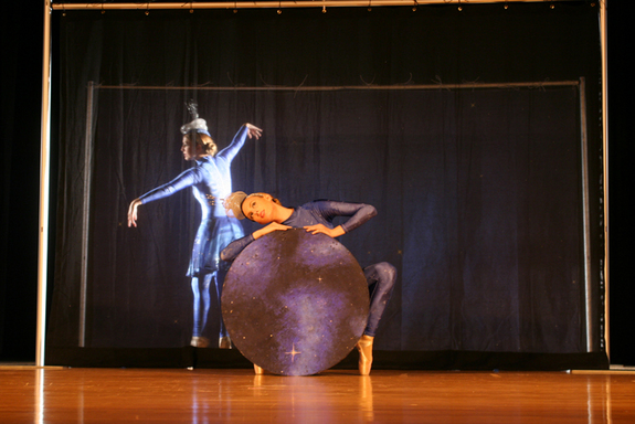 A visual representation of space-time and other astrophysical concepts expressed by AstroDance dancers.