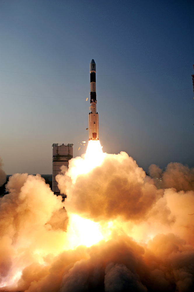 Polar Satellite Launch Vehicle Launches India Satellite