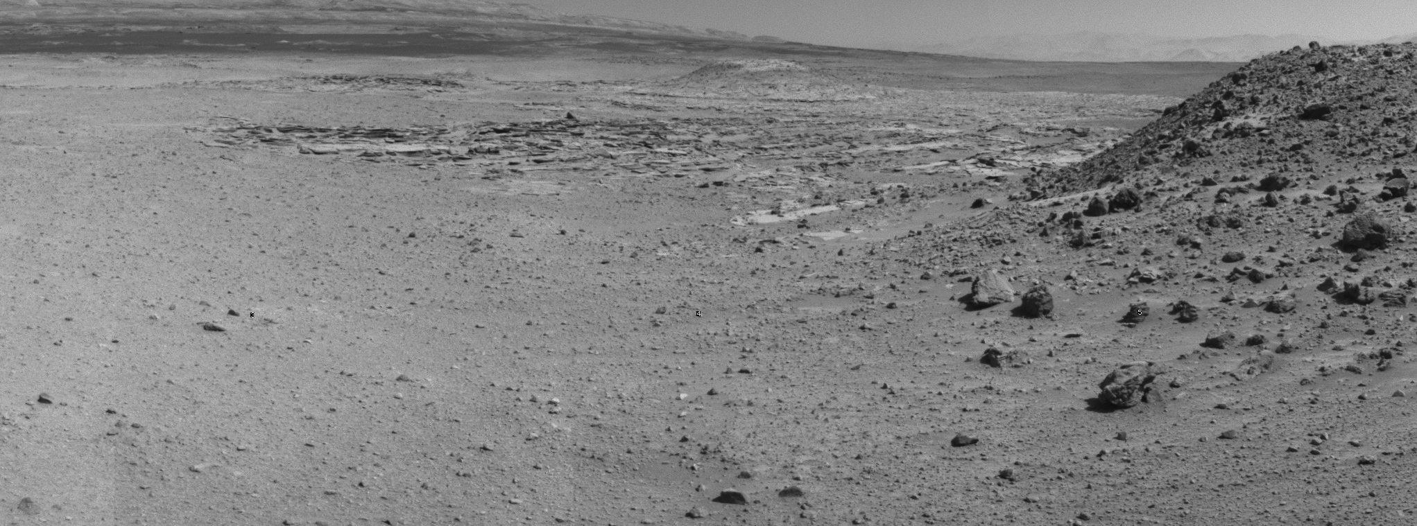 Day Before Curiosity's Final Approach Drive to 'the Kimberley' Waypoint