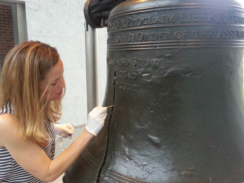 Liberty Bell Sampled for Microbes