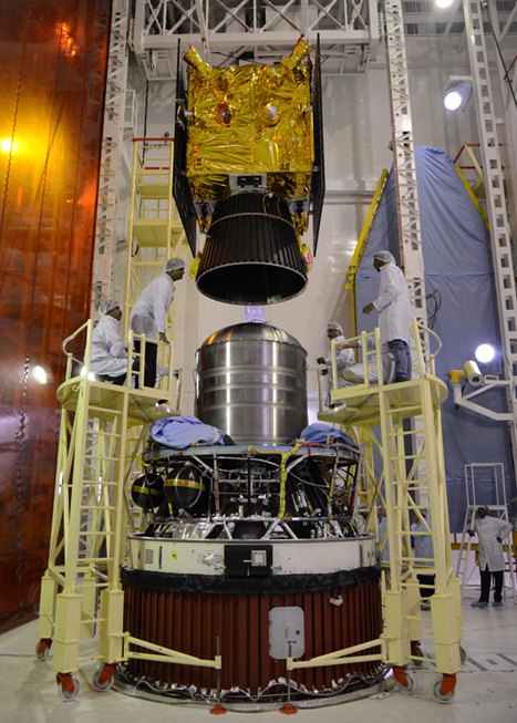 IRNSS-1B Being Integrated With PSLV-C24