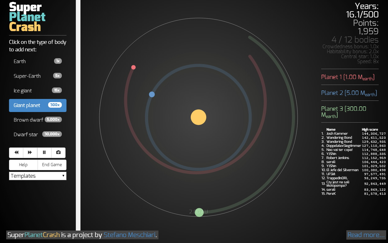 'Super Planet Crash' Game Lets You Build (and Destroy) Alien Solar Systems