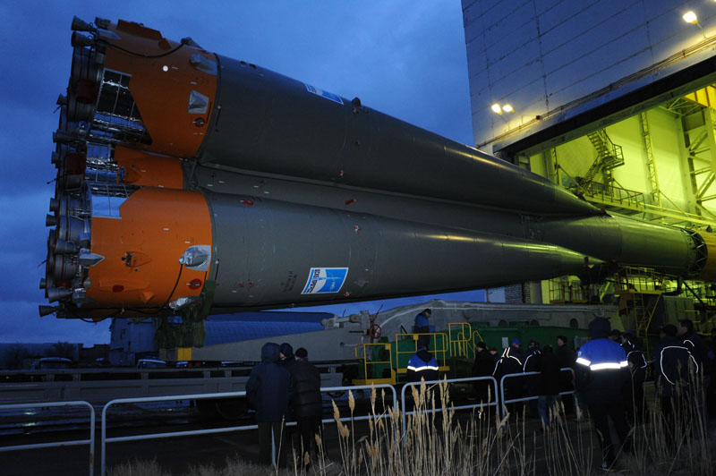 Soyuz Launch Vehicle Rollout