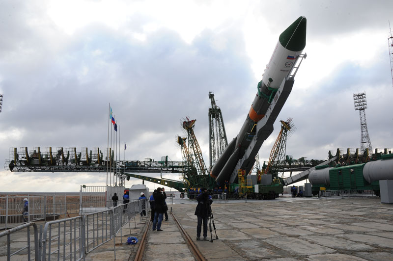 Soyuz Launch Vehicle Raised