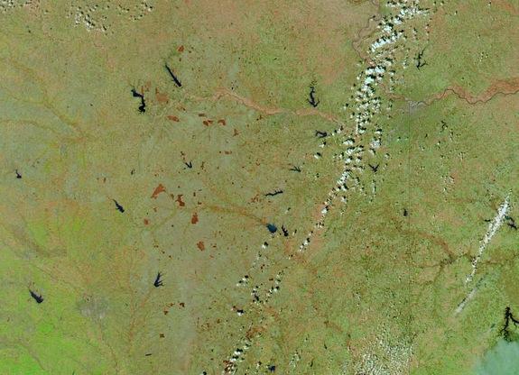 Kansas Grass Fires Seen from Space