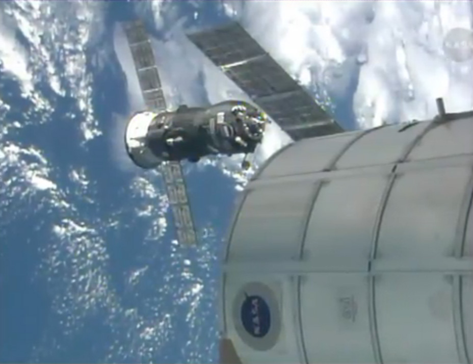 Russian Cargo Ship Docks at Space Station with Fresh Supplies