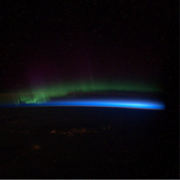 Aurora Seen from the ISS Instagram Photo