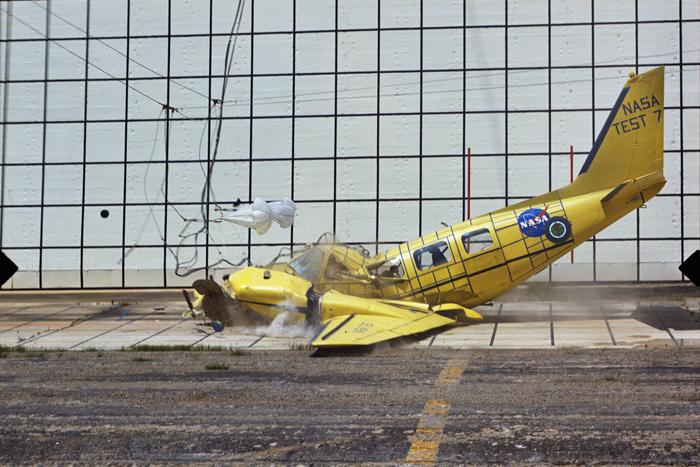 Space History Photo: Impact Landing Dynamics Facility Crash Test