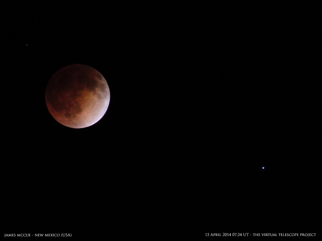 Blood Moon: Total Lunar Eclipse of 2014 by James McCue