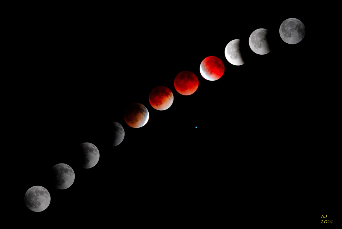 Total Lunar Eclipse of April 15, 2014, Over Nebraska
